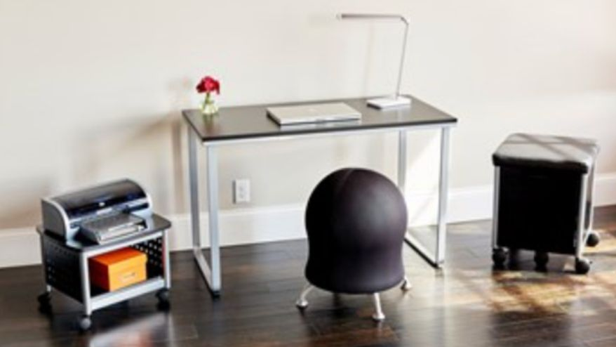 Runtz ball chair with desk and moveable files