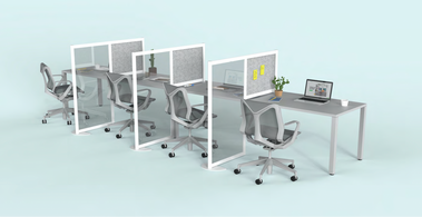 Retrofit Office with Partitioned Seating